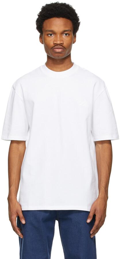 Ermenegildo Zegna Couture White Cotton Logo T-Shirt