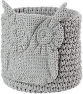 Baby Essentials Wee Woodland Crochet Bin (Grey Owl)