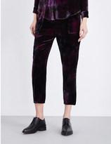 Raquel Allegra Straight cropped velvet trousers