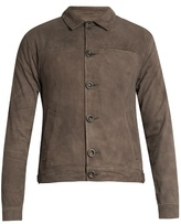 Oliver Spencer Point-collar Suede Jacket