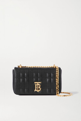 Burberry Mini Quilted Leather Shoulder Bag - Black