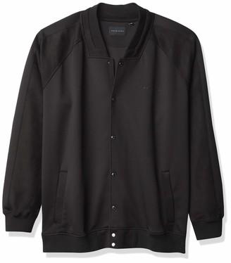 Sean John Men's Big & Tall Long Sleeve Snap Front Neoprene Bomber Jacket