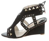 Sophia Webster Suede Studded Wedges