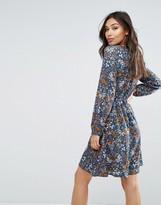 Yumi Long Sleeve Dress In Mini Floral Print