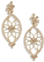 Jenny Packham Women's Glistening Shadows Dream Catcher Drop Earrings