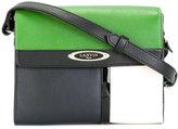 Lanvin colour block shoulder bag - women - Cotton/Calf Leather - One Size
