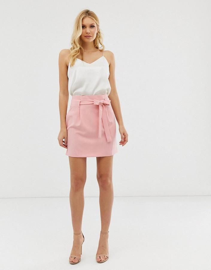 ASOS DESIGN obi tie mini skirt
