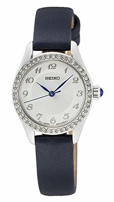 Seiko Women's Analog Quartz Watch with Leather Strap SUR385P2