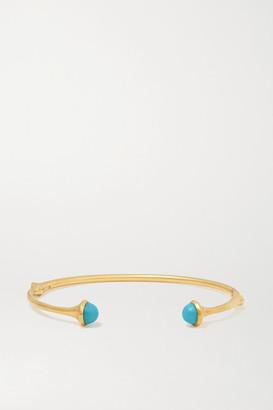 OLE LYNGGAARD COPENHAGEN Nature 18-karat Gold Turquoise Cuff - M