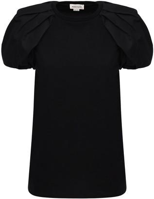 Alexander McQueen Cotton Jersey & Poplin T-shirt