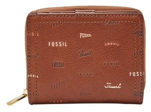 Fossil Logan Rfid Mini Multifunction Wallet Brown Multi