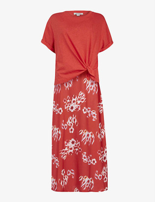 AllSaints Lenni 2-in-1 cotton and satin dress