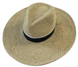 MARCUS ADLER Open Weave Wide Brim Hat