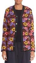 Comme des Garcons Women's Floral Jacquard Knit Cardigan