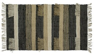 """French Connection Mitsiki Striped Hand-Knotted Cotton Charcoal Area Rug Rug Size: Rectangle 2'3"""" x 3'9"""""""