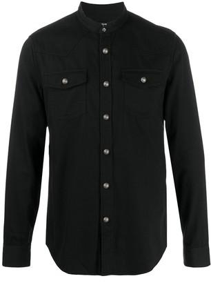 Balmain Mandarin Collar Shirt