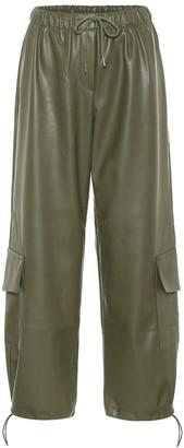 Frankie Shop Yoyo faux leather cargo pants