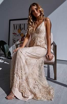 Beginning Boutique Meghan Formal Dress Gold