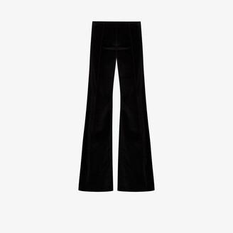 NACKIYÉ Moonlight flared velvet trousers
