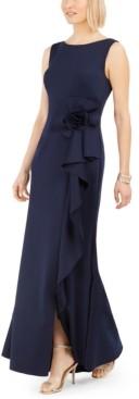 Jessica Howard Petite Ruffle Scuba Gown