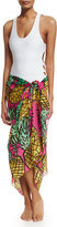 Anna Coroneo Pineapples Classic Voile Pareo, Pink/Yellow