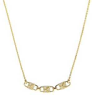 Michael Kors Mercer Padlock Necklace in 14K Gold-Plated Sterling Silver, 14K Rose Gold-Plated Sterling Silver or Sterling Silver, 16