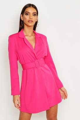 boohoo Self Belt Skater Blazer Dress