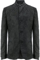 Masnada mandarin neck slim-fit jacket