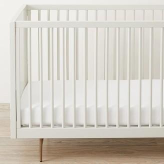 west elm Design Crew Basics Organic Crib Fitted Sheet - White