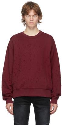Amiri Red Shotgun Crewneck Sweatshirt