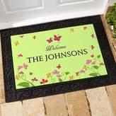 Floral Welcome 24-Inch x 48-Inch Door Mat