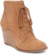 Lucky Brand Suede Wedge Bootie