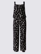 Marks and Spencer Crackle Print Lined Sleeveless Jumpsuit