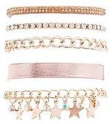 Charlotte Russe Rhinestone & Chainlink Layering Bracelets - 5 Pack