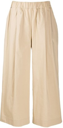 P.A.R.O.S.H. Low-Waist Wide Cropped Trousers