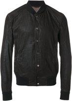 Drome leather bomber jacket - men - Lamb Skin/Polyester/Viscose - S