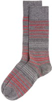 HUGO BOSS Striped Combed Stretch Cotton Socks