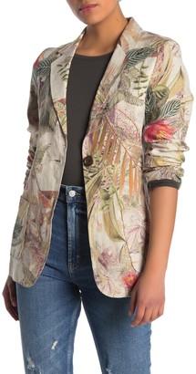 Fifteen-Twenty Tropical Floral Linen Blazer