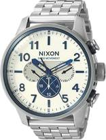 Nixon Men's 'Safari Dual Time' Swiss Quartz Stainless Steel Casual Watch, Color:-Toned (Model: A1081130-00)