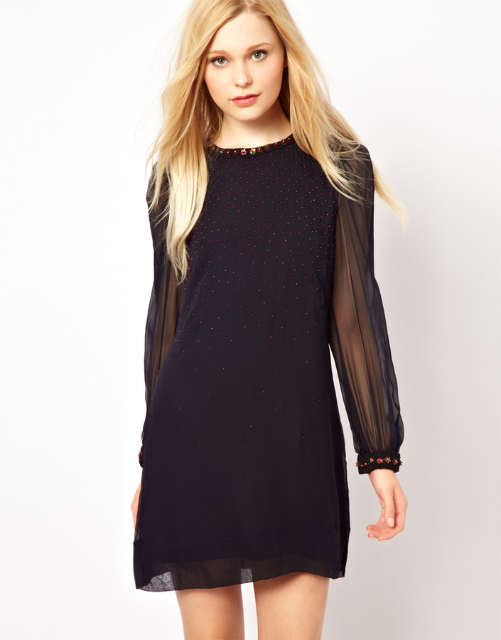 French Connection Gems Tunic Dress In Silk