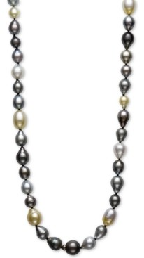 "Belle de Mer Multicolor Cultured Pearl 34"" Strand Necklace"