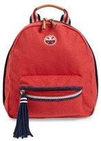Tory Burch Preppy Canvas Backpack - Red