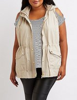 Charlotte Russe Plus Size Sherpa Lined Utility Vest
