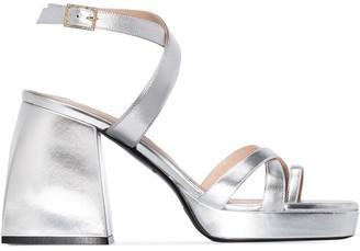 Nodaleto Bulla 85mm metallic sandals