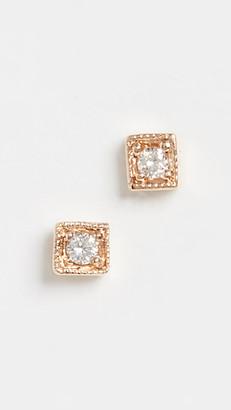 Jennie Kwon Designs 14k Diamond Mini Square Studs