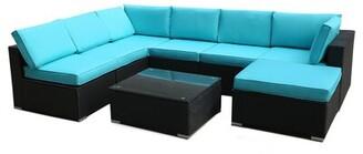 Latitude Run Balpreet 8 Piece Rattan Complete Patio Set with Cushions
