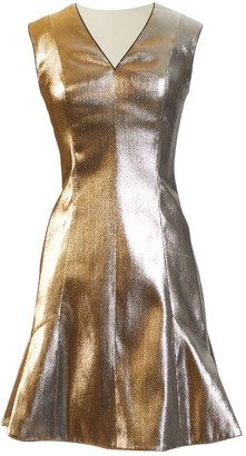 Louis Vuitton Gold Viscose Dresses