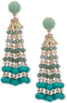 lonna & lilly Gold-Tone Beaded Chain Drop Earrings