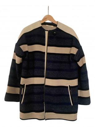 Sessun Blue Wool Coats