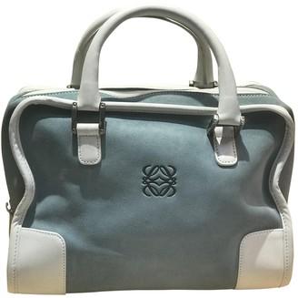 Loewe Amazona Blue Suede Handbags